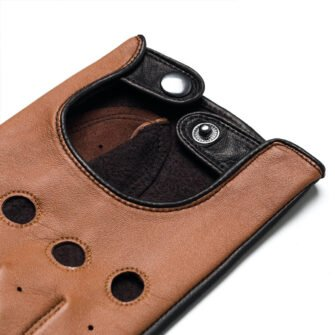 napoDRIVE (brown/camel) - Men's driving gloves without lining made of lamb nappa leather #3