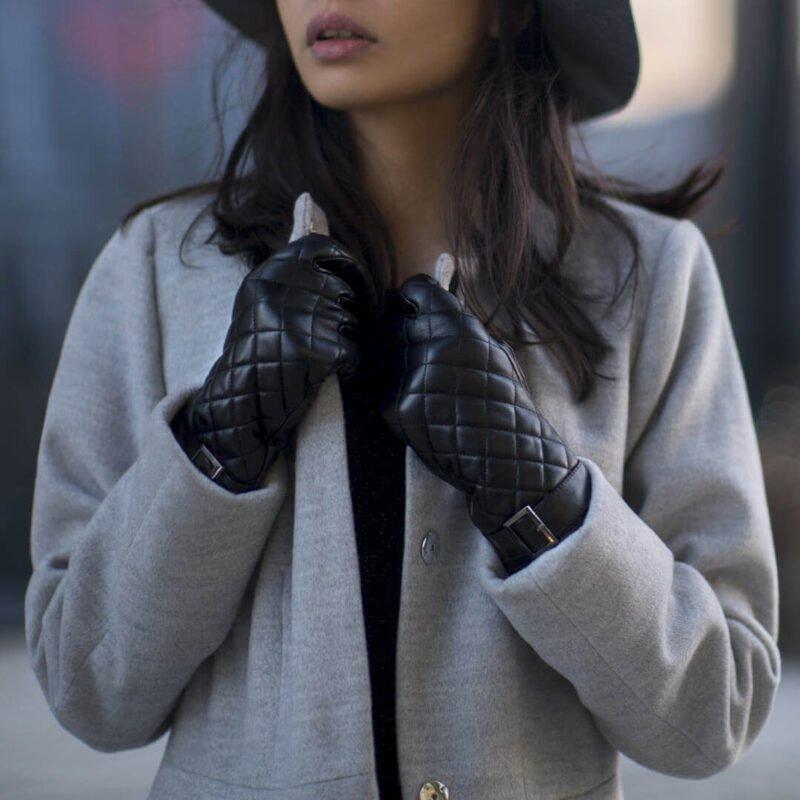 Black gloves for women