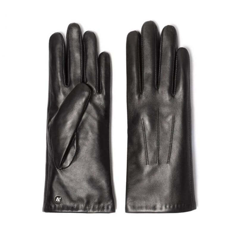 napoCLASSIC (black) - Women's gloves with lining made of lamb nappa leather #2