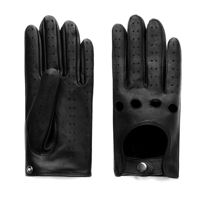 napoDRIVE (black) - Men's driving gloves without lining made of lamb nappa leather #2