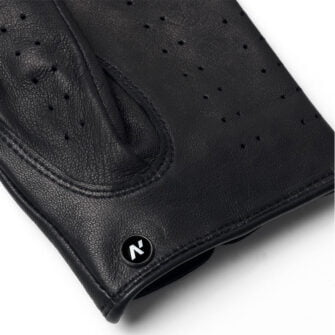 napoDRIVE (black) - Men's driving gloves without lining made of lamb nappa leather #3