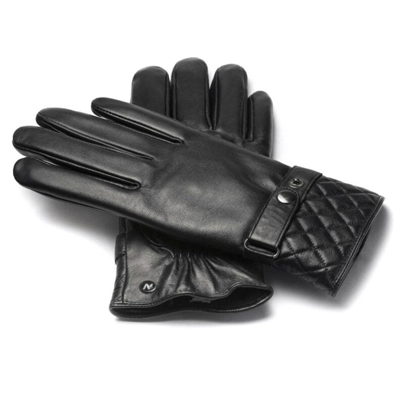 napoMODERN (black) - Men's gloves with lining made of lamb nappa leather