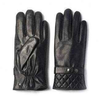 napoMODERN (black) - Men's gloves with lining made of lamb nappa leather #2