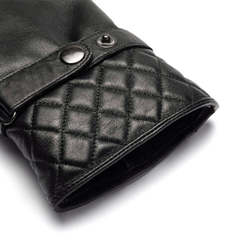 napoMODERN (black) - Men's gloves with lining made of lamb nappa leather #3