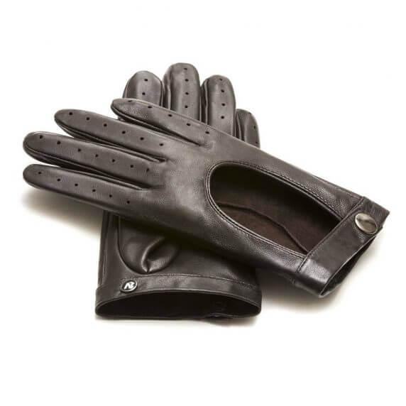 Skórzane rękawiczki napoREBEL w brązowym kolorze
