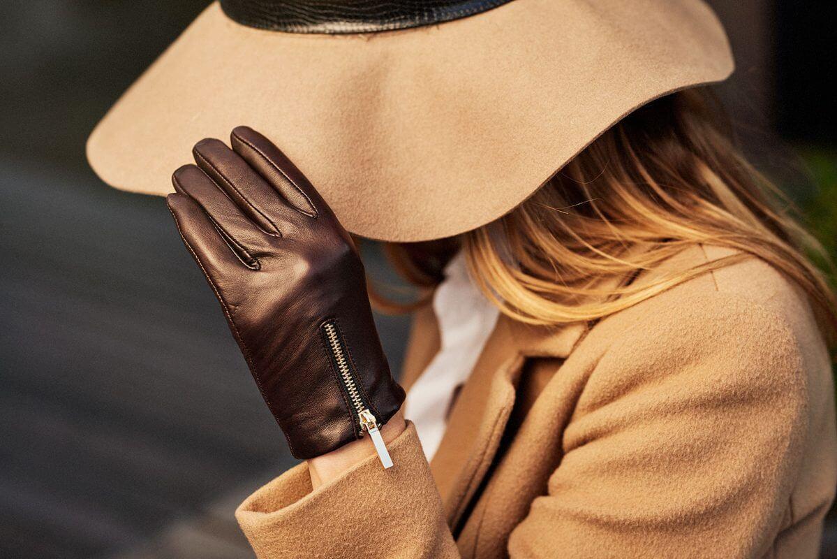 napoDONNA - brown gloves women