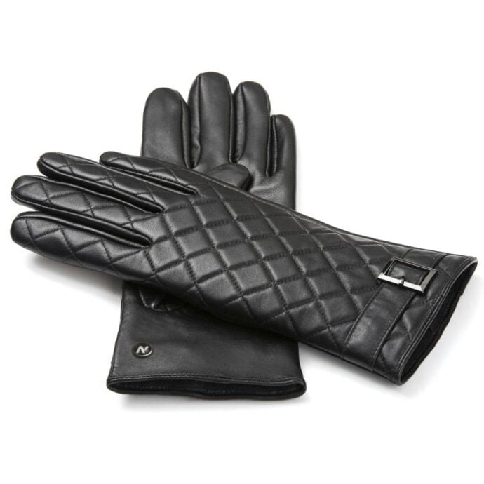 napoELEGANT (black) - Women's gloves with lining made of lamb nappa leather