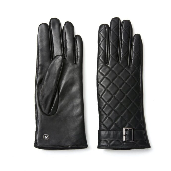 napoELEGANT (black) - Women's gloves with lining made of lamb nappa leather #2