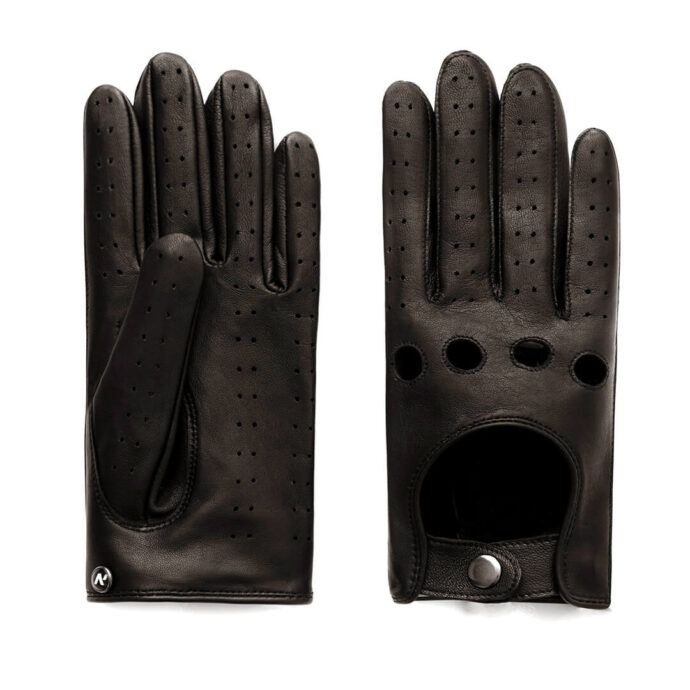 napoDRIVE (brown) - Men's driving gloves without lining made of lamb nappa leather #2