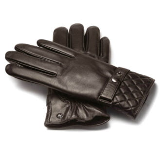 napoMODERN (brown) - Men's gloves with lining made of lamb nappa leather