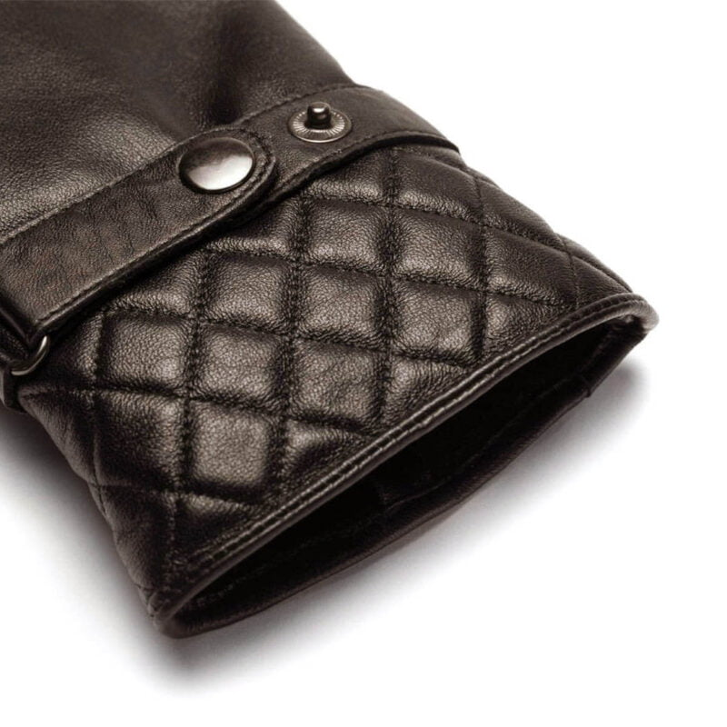 napoMODERN (brown) - Men's gloves with lining made of lamb nappa leather #3