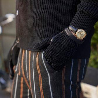 napoCROCHET black crochet gloves for men