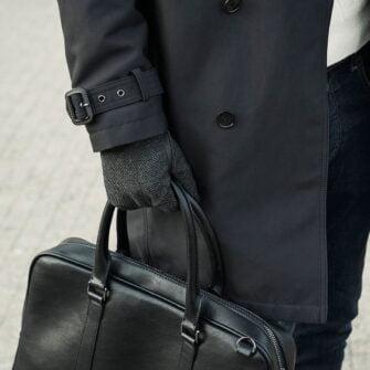 napoGENT grey touchscreen gloves for men