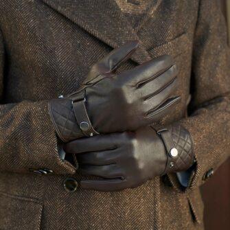 napoMODERN brown gloves men
