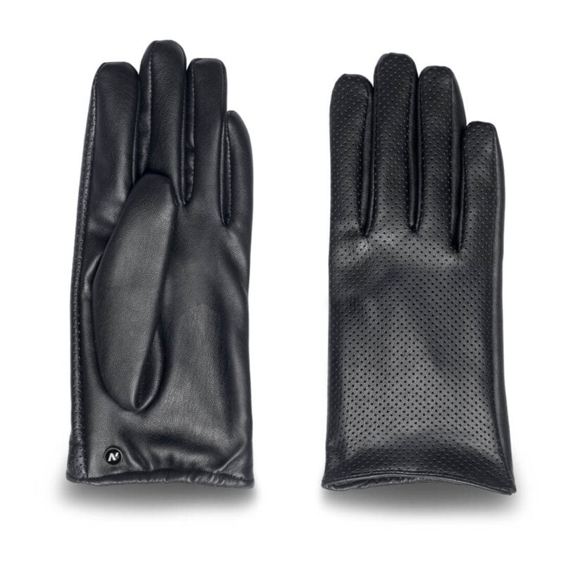 Women's gloves from eco leather in black