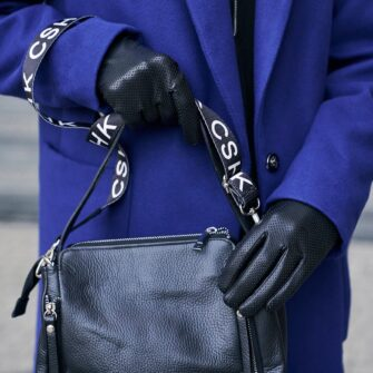 Touchscreen gloves eco leather