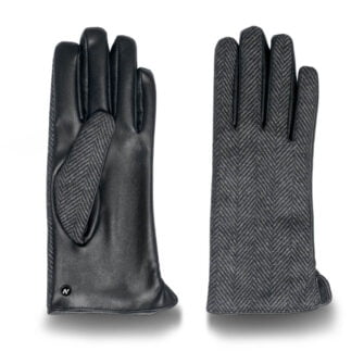 Eco-leather gloves in grey