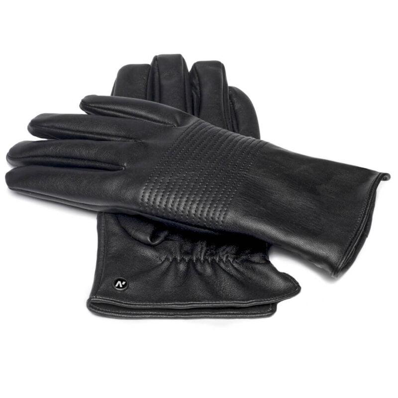 Eco-leather gloves for men