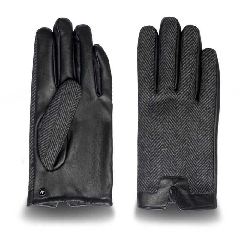 Mens' Eco-leather gloves