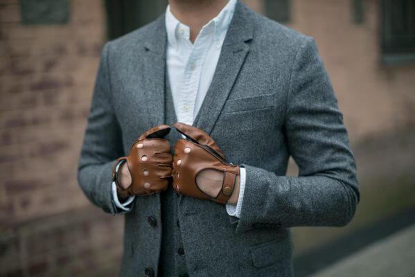 Męskie rękawiczki ze skóry, idealne na prezent na gwiazdkę