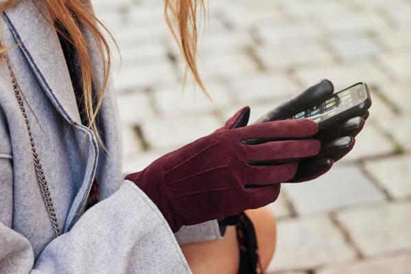 Rękawiczki dotykowe dla kobiet z obsługą smartfonów