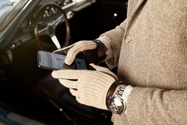 Zimowe damskie rękawiczki ze skóry