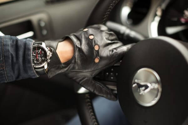 Skórzane męskie rękawiczki